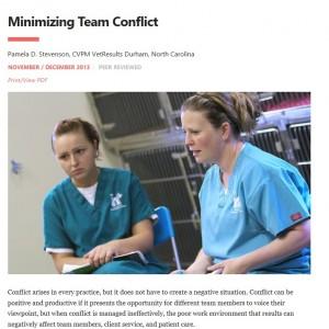 Minimizing Team Conflict _ Veterinary Team Brief